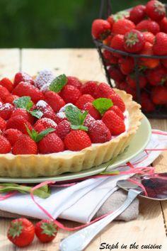 Tarte aux fraises - fraises confites