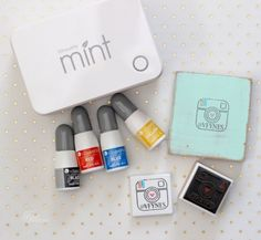 Silhouette Mint Machine creates custom stamps, you can create amazing multi coloured images Silhouette Family, Silhouette Mint, Silhouette Curio, Dingbat Fonts, How To Show Love, Stamp Making, Custom Stamps, Ink Color, Colour Images