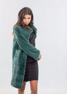 GREEN MINK FUR COAT, REAL FUR, CLASS OF SABLE, LYNX, FOX , CHINCHILLA, RABBIT | eBay