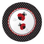 Ladybug Paper Banquet Dinner Plates
