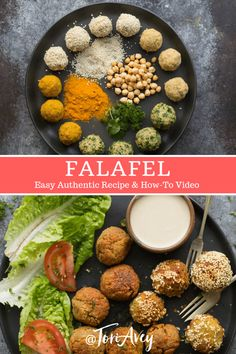 Falafel Recipe - Learn to make chickpea falafel the traditional way with multiple variations in this step-by-step tutorial.   ToriAvey.com #MiddleEasternrecipe #appetizer #vegan #sidedish #chickpeas #TorisKitchen Vegetarian Recipes, Cooking Recipes, Healthy Recipes, Vegetarian Protein, Vegetarian Dish, Baby Recipes, Kosher Recipes, Muffin Recipes, Healthy Food