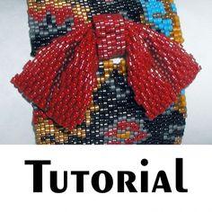 TUTORIAL Geisha Bow Sculpted Peyote PDF | Mikki Ferrugiaro Designs