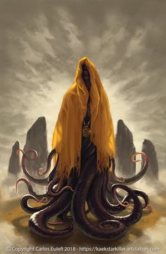 Chambers' old Hastur from Carcosa. The King in Yellow Hp Lovecraft, Lovecraft Cthulhu, Fantasy Concept Art, Dark Fantasy Art, Fantasy Artwork, Fantasy Monster, Monster Art, Arte Horror, Horror Art