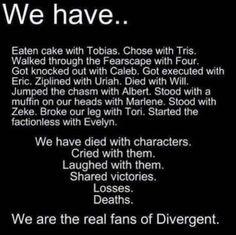 Divergent fans forever
