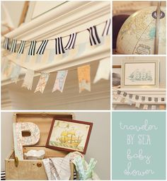 baby shower decor - travel theme