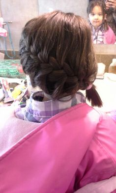 Short hair and french braid