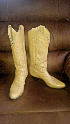 Justin-Cowgirl-Western-Boots-Tan-Women-039-s-7R