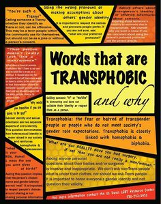 words that are transphobic; palabras que son transfobicas