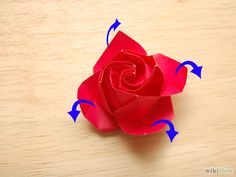 How to Fold a Paper Rose (Origami)