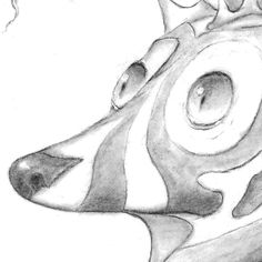 """close-up Mutt Fish by Alan """"J"""" Reed @ajay_reed #pop #surrealism #popculture #popart #popstyle #hifructose #lowbrowpopsurrealists #lowbrow #lowbrowart #sciencefiction #sciencefantasy #draw #drawing #sketch #sketchbook #drawing #sketch #charcoal #graphite #pencil"""