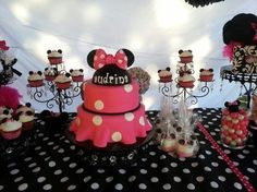 Precious Minnie Mouse Cake.