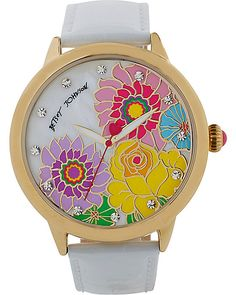 MULTI FLOWER WATCH WHITE accessories jewelry watches fashion