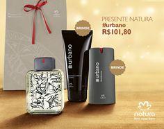 Presente Natura Urbano - Desodorante Colônia + Shampoo + Desodorante Spray + Embalagem Desmontada