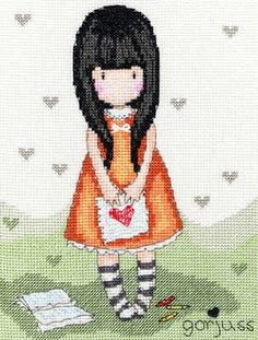 Heart - Gorjuss Cross Stitch Kit - Bothy Threads.