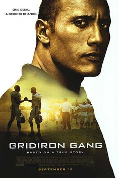 Gridiron Gang on Blu-ray from Mill Creek Entertainment. Directed by Phil Joanou. Staring Dwayne Johnson (AKA The Rock), Brandon Smith, Leon Rippy and Jade Yorker. More Drama, Based-On-A-True-Story and Sports DVDs available @ DVD Empire. The Rock Dwayne Johnson, Dwayne Johnson Movies, Rock Johnson, Coach Carter, Best Football Movies, Love Movie, Movie Tv, Avengers Film, Equipement Football