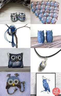 Whoo Loves Blue?? by Susan Fischer on Etsy--Pinned with TreasuryPin.com
