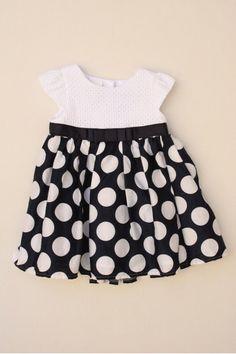 Vestido de talle alto con lunares de niña de la marca Jasper Conrar de la talla 3 meses #vestidosniña #vestidosbebé #vestidos #niña #bebé #jasperconrar #econene