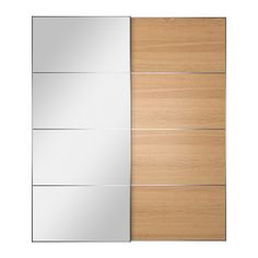 IKEA - AULI / ILSENG, Pair of sliding doors, 200x236 cm, soft closing device, , 10 year guarantee. Read about the terms in the guarantee brochure.Sliding doors allow more room for furniture because they don't take any space to open.The soft-closing device catches the running doors so that they close slowly, silently and softly.Provided with safety film - reduces damage if glass is broken.