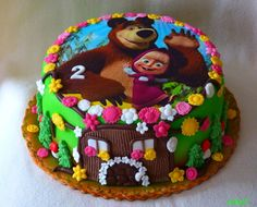 Masha and the Bear cake - torta Máša a medveď