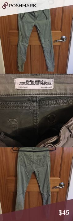 Zara Premium Denim Excellent condition. Hardly worn. Skinny jeans. Fitting. Zippers on the button. Zara Jeans Skinny