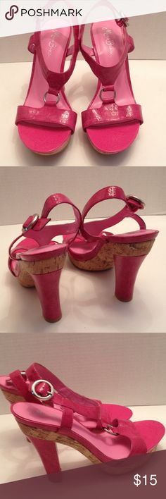 """Miss Bisou pink patent heels New without box in great condition, 5"""" heels with adjustable strap Miss Bisou Shoes Heels"""