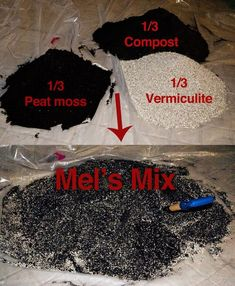 "Soil mix for raised bed gardens ""Mel's Mix"" as prescribed in his book Square Foot Gardening. Of course if you're a gardener you know this is the best mix comprising 1/3 vermiculite, 1/3 peat moss, and 1/3 compost. I've used Mel's Mix and I can attest that"