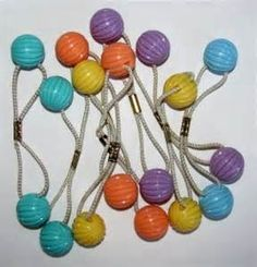 1980s ponytail holders. I lived with these on my hair