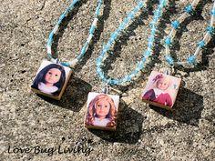 DIY American Girl Scrabble Tile Pendant Necklace - use mod podge dimensional magic