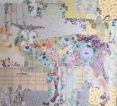 Billie Goat Collage Quilt Pattern by Laura Heine for Fiberworks LHFWBILLIE by happyvalleymercantil on Etsy