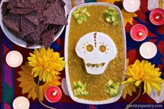 Love this! Looks so good - 25 Day of the Dead Recipes To Die For! Dia de los Muertos. This would also be perfect for Halloween!
