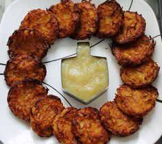 No Way That's Healthy!: Crispy Baked Potato Latkes - use sweet potatoes