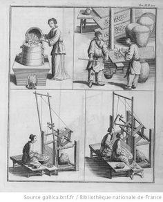 China silk work. 1736