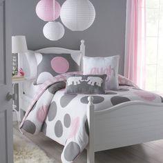 Big Believers Pink Parade 3-piece Full-size Comforter Set | Overstock.com