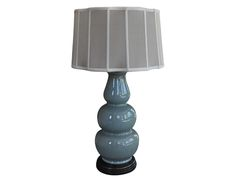Add an elegant accent with this beautiful gourd lamp and lovely silk scalloped shade.