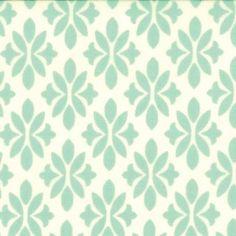 Amazon.com: Marmalade Floral Fleur De Lis Aqua 1 Yard 44 Wide By Bonnie & Camille for Moda: Arts, Crafts & Sewing $11/yard
