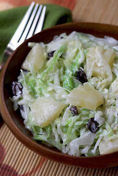 Cabbage and Pineapple Salad - AntojandoAndo pasta rezept healthy pasta recipes Mexican Shrimp Recipes, Veggie Recipes, Salad Recipes, Vegetarian Recipes, Beef Recipes, Cooking Recipes, Healthy Recipes, Healthy Salads, Healthy Eating