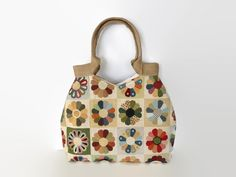 Gobelin tote bag, tapestry shoulder bag, goblin tote bag, handbag, ethnic tote bag, hippie bag, Turkish kilim bag, jute handles - pinned by pin4etsy.com