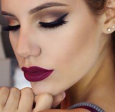Makeup; maquiagem; olho; boca; vinho