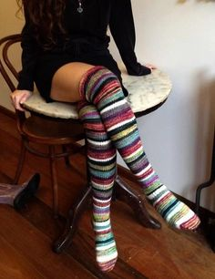 Valentina's Long Socks, Ravelry I love these! Lounge Outfit, Cozy Socks, Fall Socks, Ravelry, Creation Couture, Little Doll, Knitting Socks, Crochet Socks, Mode Style
