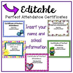 Award certificate template for perfect attendance at school free free download perfect attendance certificates for the rest of the 2015 2016 school yadclub Choice Image