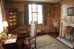 Panelled study, Packwood House