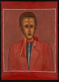 Jerzy Nowosielski.Portrait on the red.