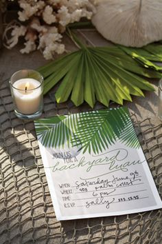 Backyard Luau In Neutrals And Greens A More Grown Up Option For Pool