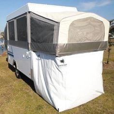 "Jayco ""Touring"" Camper Trailer Bed End Storage Room, Annexe, Kids Cubby, Garage Jayco Camper Trailer, Jayco Pop Up Campers, Tent Trailer Camping, Pop Up Camper Trailer, Tent Campers, Tent Trailers, Rv Camping, Pop Up Caravan, Jayco Travel Trailers"