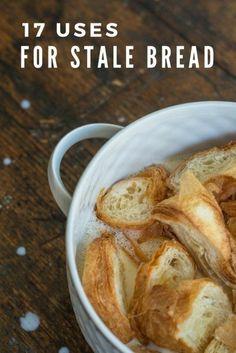 Recipes With Old Bread, Leftover Bread Recipes, Leftovers Recipes, Banana Bread Recipes, Recipe With Stale Bread, Leftover Rolls Recipe, Hard Bread, Baguette Bread, Recipes