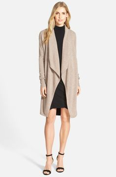 Halogen Cashmere Long Drape Front Cardigan - Sale - Wrap yourself in lush softness with a long cashmere cardigan with elegantly draped front panels. Drape Cardigan, Cashmere Cardigan, Open Cardigan, Petite Outfits, Casual Outfits, Casual Clothes, Dressed To The Nines, Cardigan Sweaters For Women, Petite Sweaters