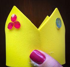 Aniversário Súper Mario Bros - Parte I Coroa da princesa Peach como lembrancinha  (arco forrado em cetim e coroa em EVA)  Mario Bros Party Princess Peach's crown