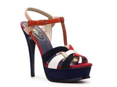 Yves Saint Laurent Color Block Platform Sandal - Yves Saint Laurent