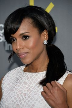 Kerry Washington Does This with Her Ponytails a Lot. Have You Noticed?