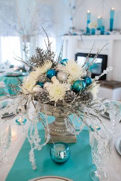 winter wonderland centerpiece More